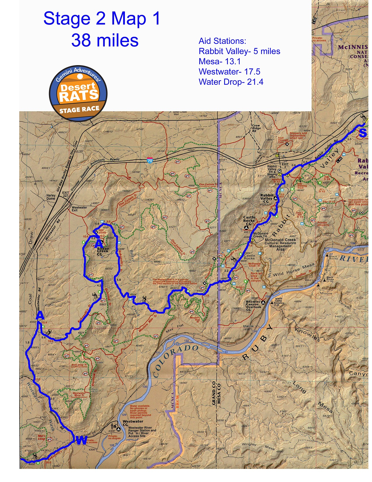 Gemini Adventures - Desert RATS Kokopelli Trail Stage Race